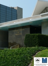 The facade of the National Library of Medicine